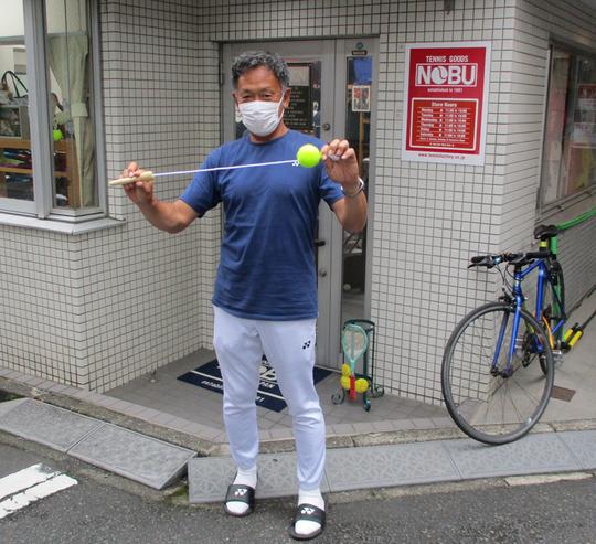 神谷Showコーチがまたまた不思議なグッズを持参【NOBU TENNIS BLOG】